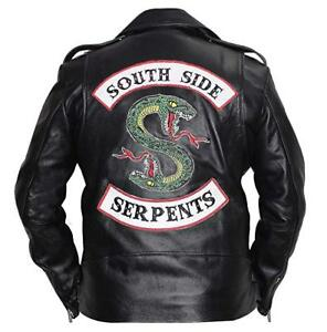 bas prix 4fedf 15cf4 Détails sur Riverdale Southside serpents Clovix Jones Cole Sprouse Hommes  Cuir Motard Veste- afficher le titre d'origine