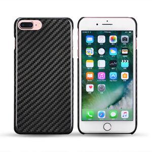 Vero-Carbonio-Custodia-per-Apple-IPHONE-8-Plus-Borsa-Protettiva