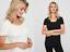 2 pack  Mamalicious Organic Nursing Top Breastfeeding Short Sleeve Black /& White