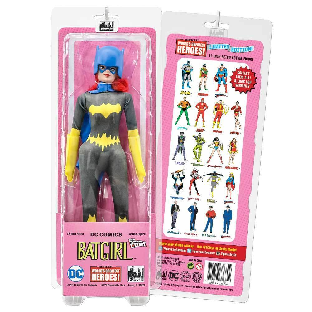 12 Pulgadas Retro DC Comics Figuras De Acción Serie  Batgirl [Tela cinturón variante]