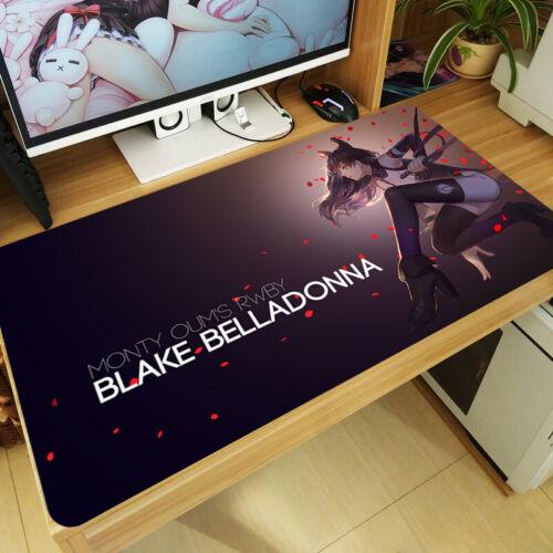Anime RWBY Mouse Pad Mat Blake Belladonna Large Keyboard Work Mat Game Playmat