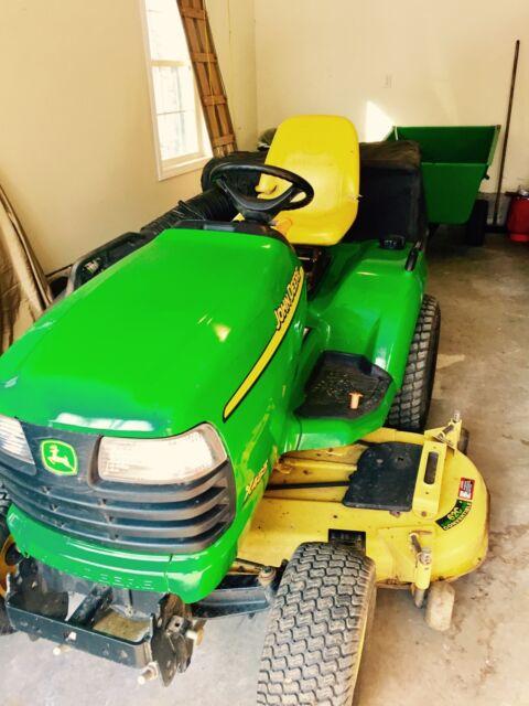 John Deere 2004 Lawn Solutions System X485 62 Cutting Dk Bagger Cart