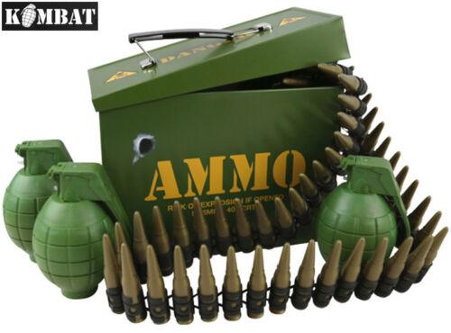 Enfants Armée munitions boîte cadeau entièrement chargé jouer Combat Set Bullet Ceinture Boys soldat