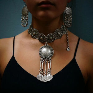 Cool-Boho-Ethnic-Tribal-Coin-Choker-Necklace-Free-People-Style-Coachella-Jewelry