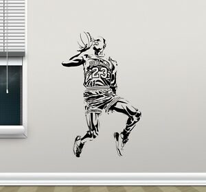 Genial Image Is Loading Michael Jordan Wall Decal Basketball Vinyl Sticker Art