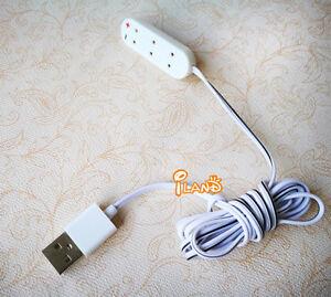 Dollhouse 5V LED Bulb Lamp Light With USB Interface Cable Line Flexible Plastic