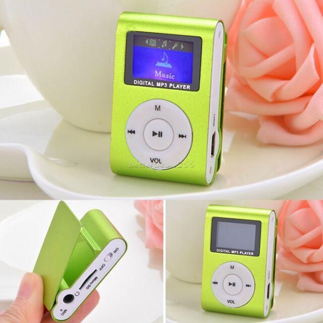 New Mini MP3 WAV Player USB Clip Support 32GB Micro SD Card Slot FM Radio Green