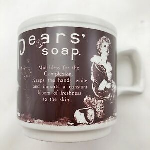 Vintage-Pears-Soap-Advertising-Coffee-Mug-England-Dominion-Stores-Wood-amp-Sons