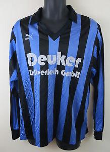 Vtg-PUMA-90s-Football-Shirt-Retro-Soccer-Jersey-Blue-Camisa-Trikot-3-4-S-Small