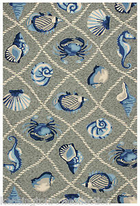 Area Rugs Coastal Living Indoor Outdoor Rug 5 X 7 6 Grey