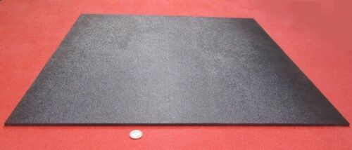 """Black ABS Sheet 1//4/"""" X 24/"""" X 24/"""" Haircell Textured One Side .236/"""""""