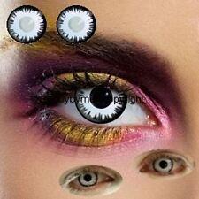 80381 lentille de couleur blanche eclipse lune lenses contact us white blanc new