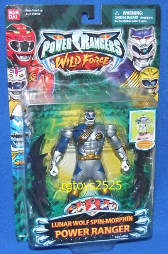Energia Rangers Wild  Force Spin-Morphin Lunar Wolf 5  energia Ranger nuovo Sealed 2002  bellissimo