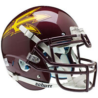 Arizona State Sun Devils Maroon Schutt Xp Authentic Football Helmet