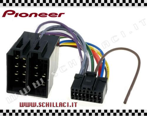 Connettore adattatore ISO autoradio PIONEER 16 pin installazione C01