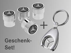 Mercedes-Benz 4 Ventilzierkappen Ventildeckel + 1 Schlüsselanhänger Geschenk SET