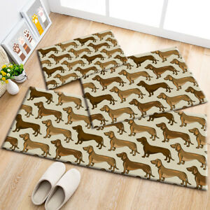 Details About Pets Dachshund Dogs Pattern Area Rugs Kids Bedroom Carpet Living Room Floor Mat