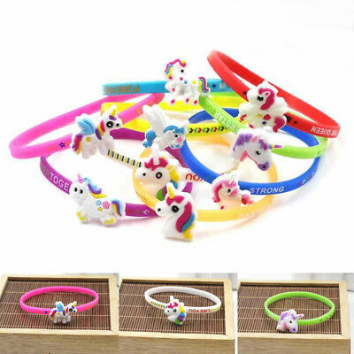 Children Unicorn Colorful Bracelet Wristband Kids Birthday Party Gift Bracelets