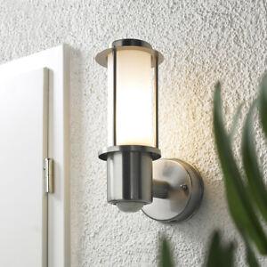 led au enleuchte bewegungsmelder au enlampe sensor beleuchtung wandlampe 102p2 ebay. Black Bedroom Furniture Sets. Home Design Ideas
