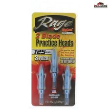 Rage 2bld Practice Broadhead Heads 125gr 3 PK 33009
