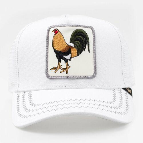 Gold Star Hat Animal Farm Snapback Trucker Hat Cap Rooster white