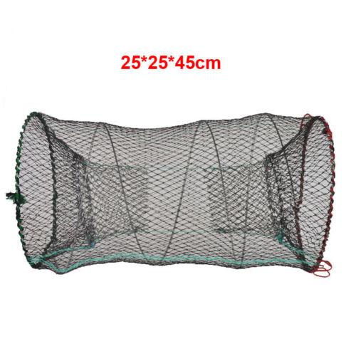Fischen Krabbe Falle Käfig Faltbar Flusskrebs Garnele Schrimps 25 45CM 30 60CM