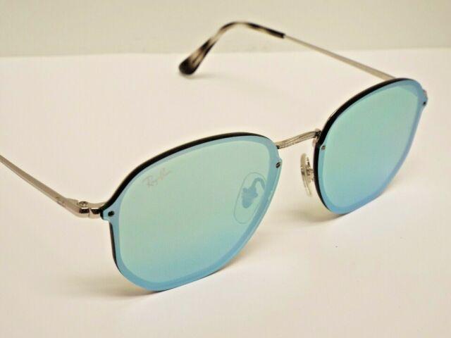 NEW Ray-Ban RB3579N 003/30 Blaze Hexagonal Silver Silver Mirror Sunglasses $248