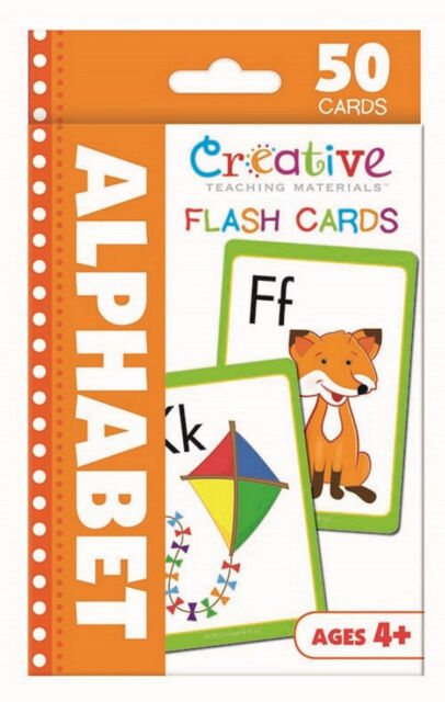 50 Alphabet Flash Cards Preschool Pre K Toddler Kindergarten Ages