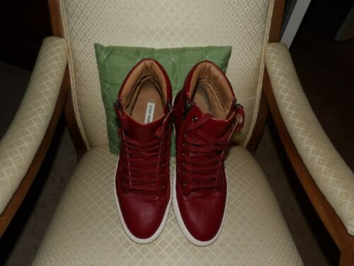 Steve Madden Quilts Sneakers burgundy Mens 13