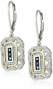 1-pair-Jewelry-White-CZ-925-Sterling-Silver-Blue-Sapphire-Gemstone-Drop-Dangle