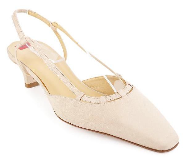 New ELLEN  TRACY donna Fabric Beige Slingback scarpe Sz 8 B Italia  economico online
