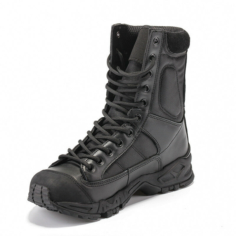 Outdoor Mens Leather Hiking Tactical Boots Military Combat Army shoes Desert New