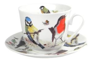Roy Kirkham-Petit Déjeuner Tasse Et Soucoupe-Jardin Oiseaux