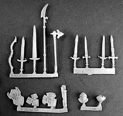 Crusader Weapons Reaper Miniatures Warlord Shields Swords Bow Polearm Quiver