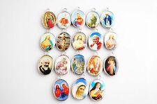 Delicate 30Ps Catholic Religious Crosses Enamel Medals Pendants Crucifixes 25mm