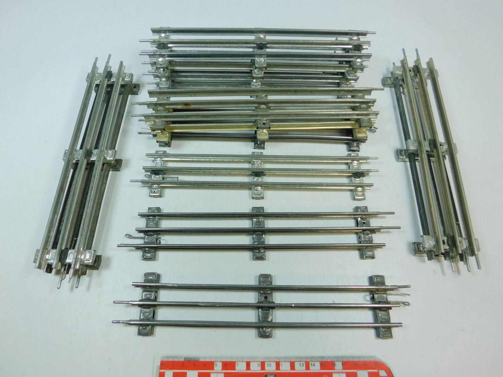 Av48-2 x Märklin   MARKLIN ESCALA 0 piezas de vía (26cm) para eléctrico