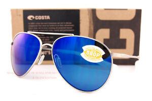 New Costa Del Mar Sunglasses PIPER Velvet Silver Blue Mirror 580P Polarized