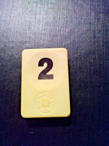 PION RUMMIKUB N° 2  NOIR D/'ORIGINE 4cm X 3cm