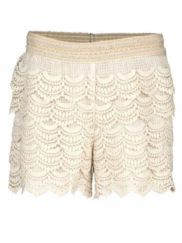 KP 49,90 € ecru Gr 36 LINEA TESINI by Heine Spitzen-Shorts NEU!!