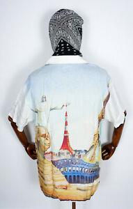 Huf Worldwide Skateboard T-Shirt Tee Woven Hemd Prestige Resort Shirt White in M