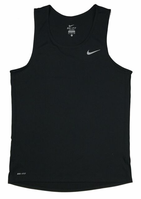 8fe621002c5f Nike Dri-fit Miler Singlet Running Tank 849927 Black S for sale ...