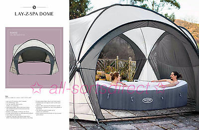 Bestway Lay Z Spa Dome Hot Tub Gazebo Garden Insect Net Detachable Doors - sides
