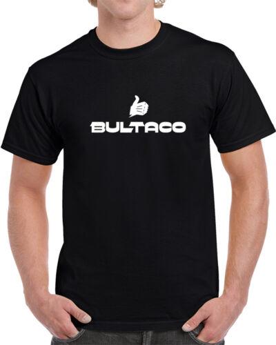 3XL Gift New From US Bultaco Logo T Shirt Short Sleeve Black Men/'s Tee Size S