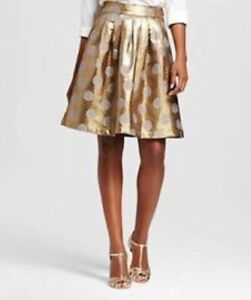 100856172 Image is loading ISANI-Target-WOMENS-Foil-Dot-Skirt-Small-Party-