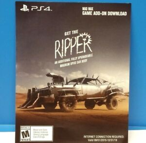 Details about MAD MAX - GET THE RIPPER! MAGNUM OPUS (PS4) DLC ADD-ON GAME  CONTENT ONLY #114
