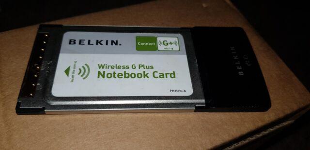 BELKIN WIRELESS CARD F5D9010 DRIVERS