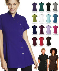 New-Beauty-Spa-Salon-Beautician-Tunic-Nail-Massage-Therapist-Uniform-Top-Quality