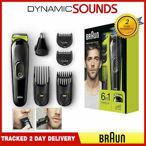 Braun-MGK3021-6-in-1-Beard-Trimmer-amp-Hair-Clipper-Black-Volt-Green