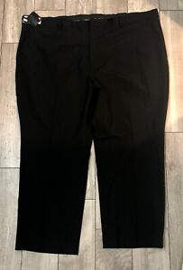 J-Ferrar-Mens-Dress-Pants-NWOT-Flat-Front-black-Big-Tall-Stretch-54-W-30-L