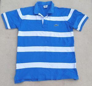 858b591855 Lacoste Hommes Bleu Roi Blanc Coton Manches Courtes Polo Haut 96.5cm ...